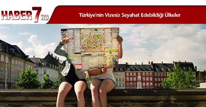 Türkiye'nin Vizesiz Seyahat Edebildiği Ülkeler