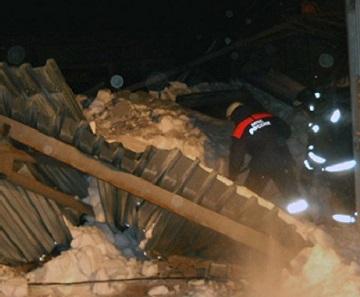 Berdsk Şehrinde Binicilik Binası Çöktü