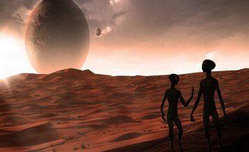 Mars'ta Yaşayan Uzaylıların Görüntüleri Çekildi.