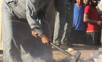 IŞİD'in Abideleri Tahrip Etme Görüntüleri Yayınladı.