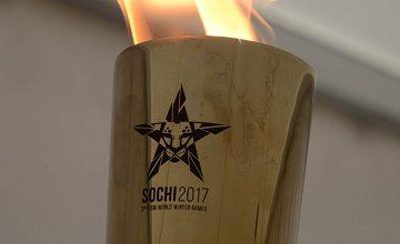 Dünya Kış Askeri Oyunları Meşalesi Soçi'de